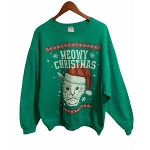 Sweaters - Cat ugly Christmas sweater size XL